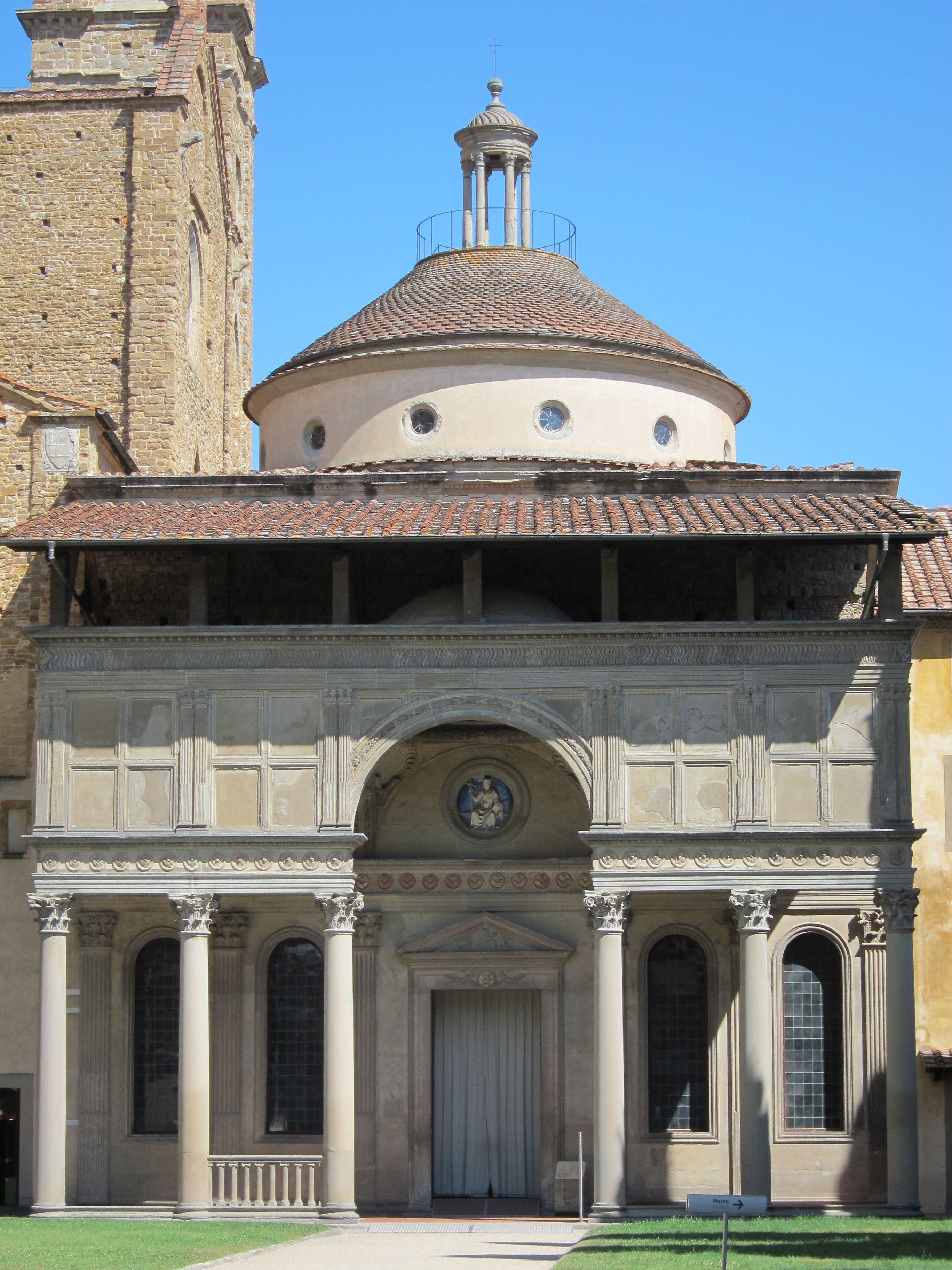 Brunelleschi poh ebn kaple pazzi 1443 1446 for Architecture renaissance