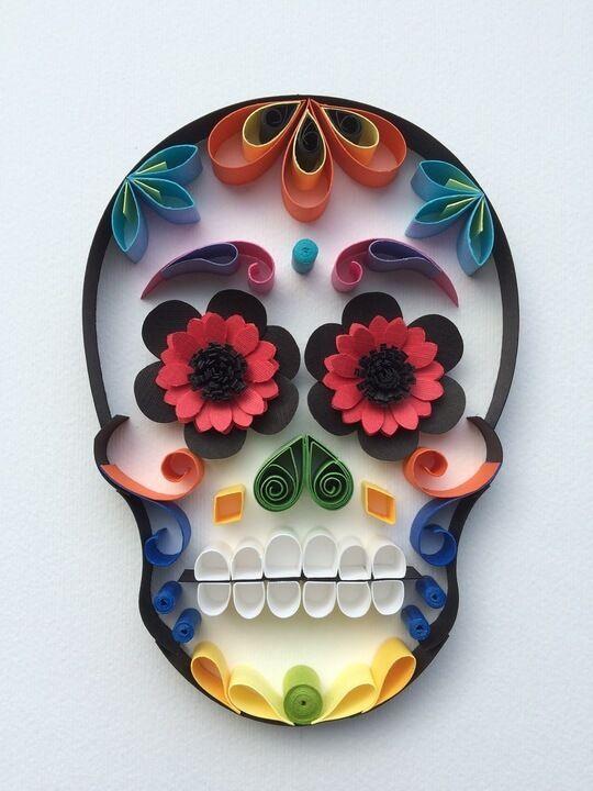 Mexican calavera 2 diy crafts pinterest dia de for Puertas decoradas con flores de papel