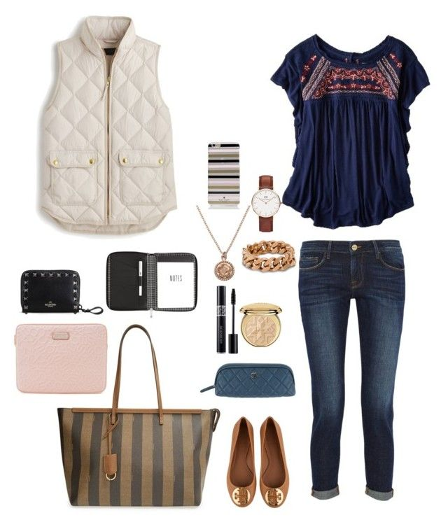 """""""spring look"""" by francesca-rossi87 on Polyvore featuring moda, American Eagle Outfitters, Fendi, Frame Denim, Tory Burch, Christian Dior, Chanel, Alex Monroe, Daniel Wellington e Marc by Marc Jacobs"""