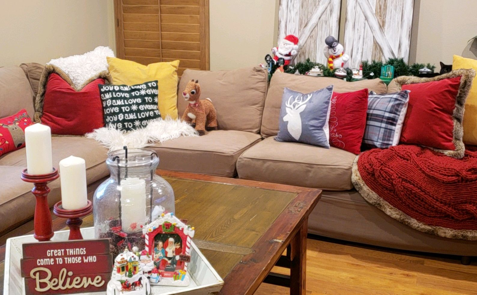 Is your living room ready for Christmas? Our pillows are ...