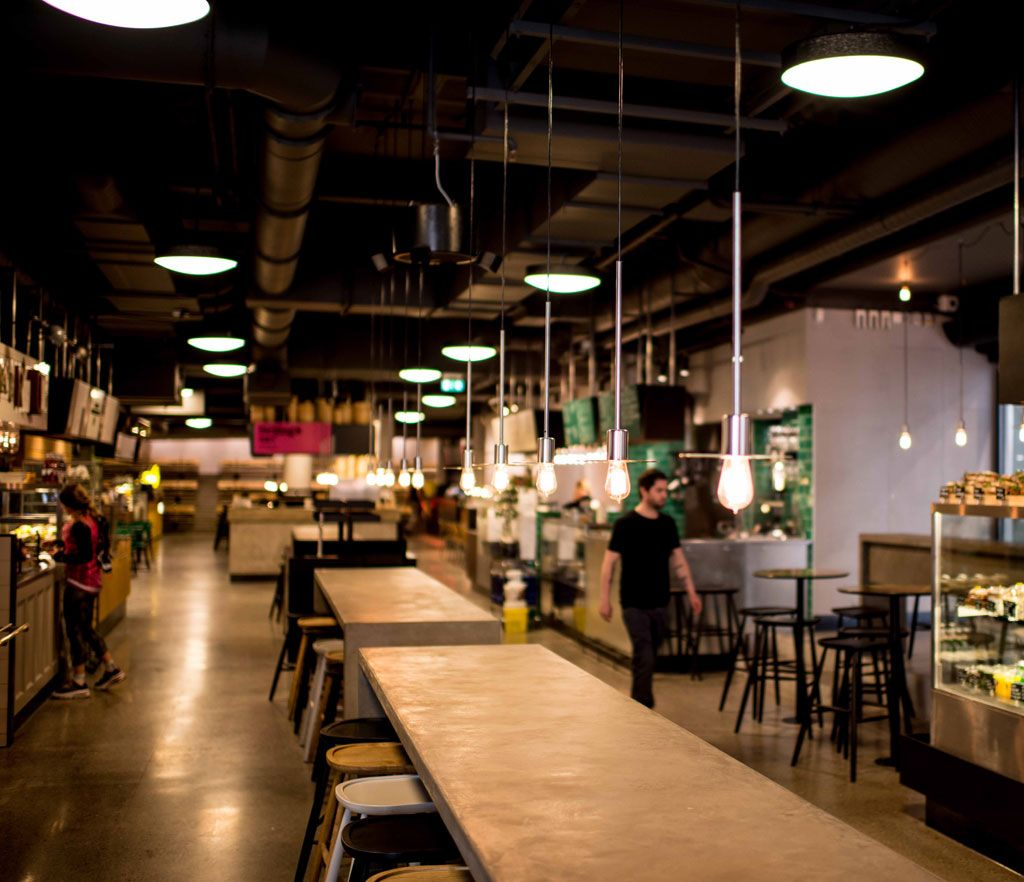 Rubn Lamps At K25 Food And Restaurant Hall In Central Stockholm Sweden Cofee Shop Restaurant