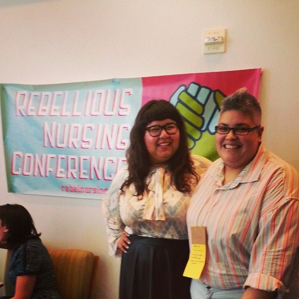 Virgie Tovar at the Rebellious Nursing Conference
