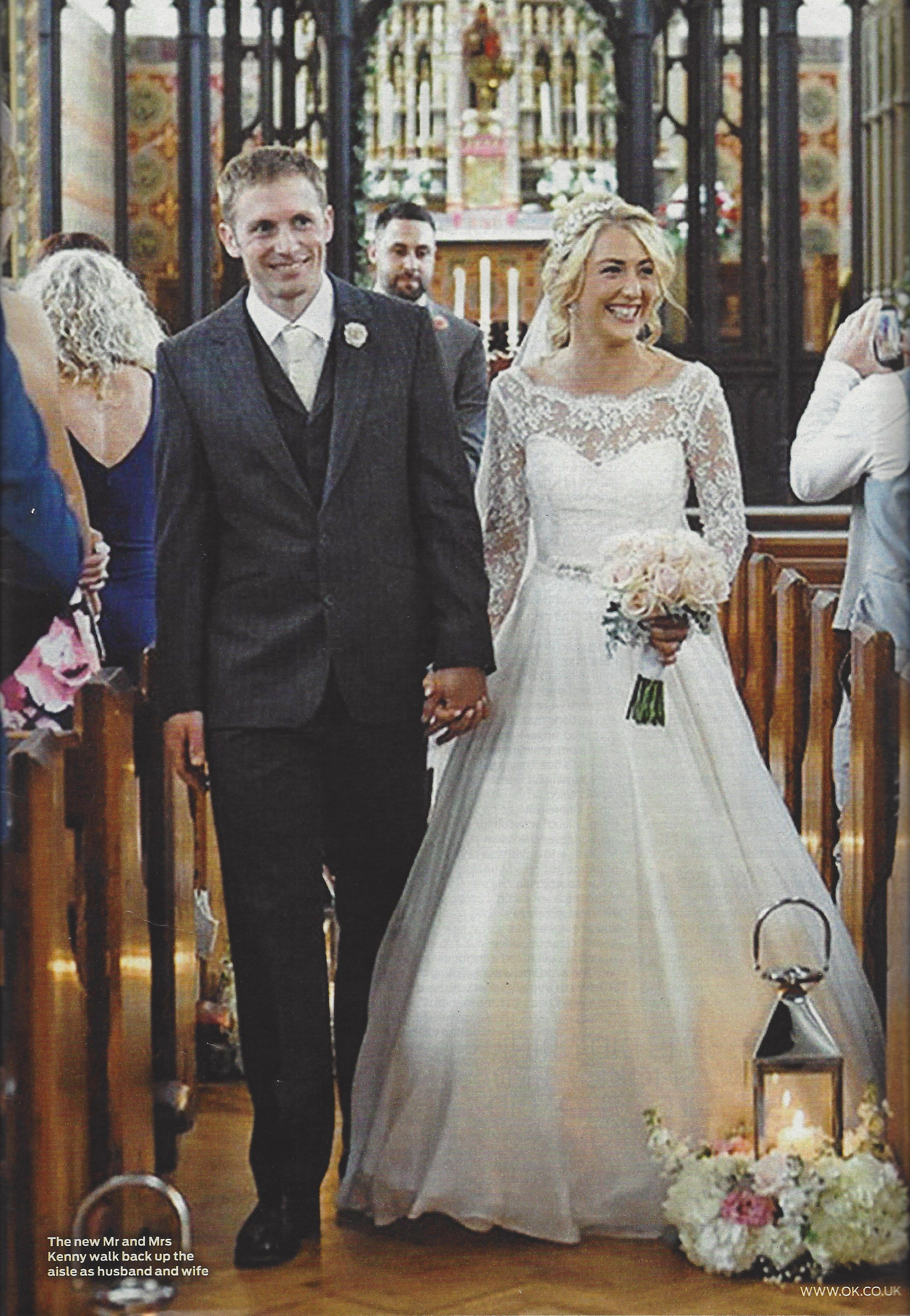 Laura Trott Jason Kenny S Wedding On The Front Of Ok Magazine Wore