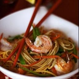 Long Life Fertility Noodles With Happy Shrimp Food Asian Recipes Asian Cooking