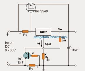 LM317 with Outboard Current Boost Transistor Circuit