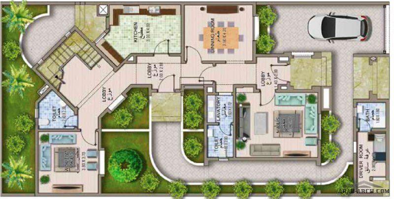 مساقط فيلا باريزيانا ليفنج الذوق الرفيع والمفاهيم المعمارية الحديثة Arab Arch Architectural House Plans New House Plans Fantasy House