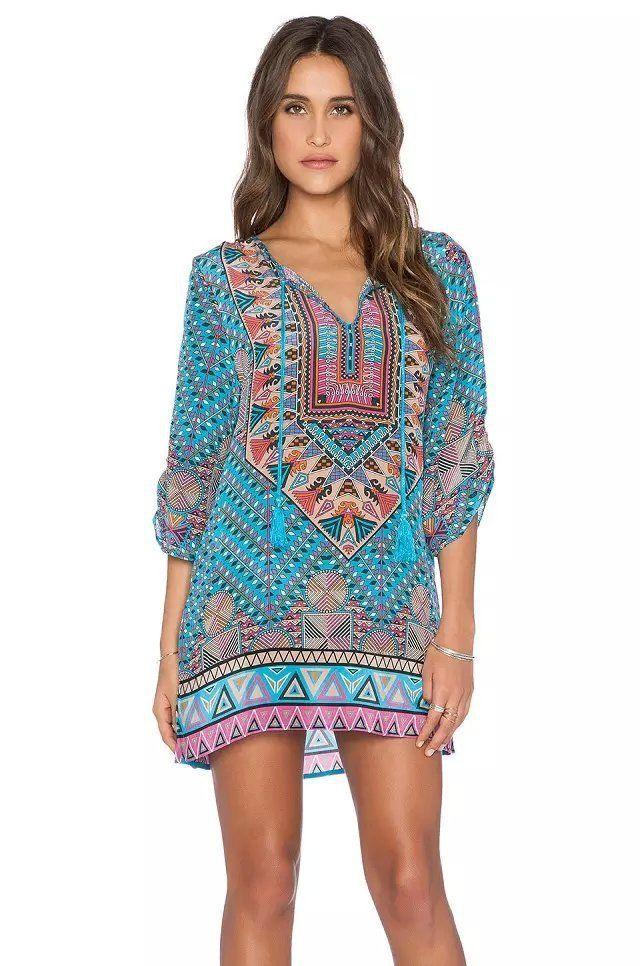 4fc14344562c BOHO CHIC SUMMER DRESS BOHEMIAN STYLE HIPPIE FASHION - Hippie BLiss
