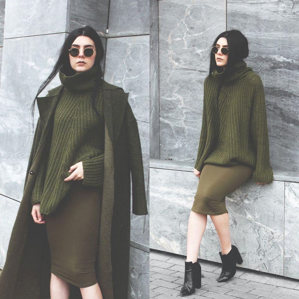 Holynights Claudia Sheinside Olive Sweater, Sheinside