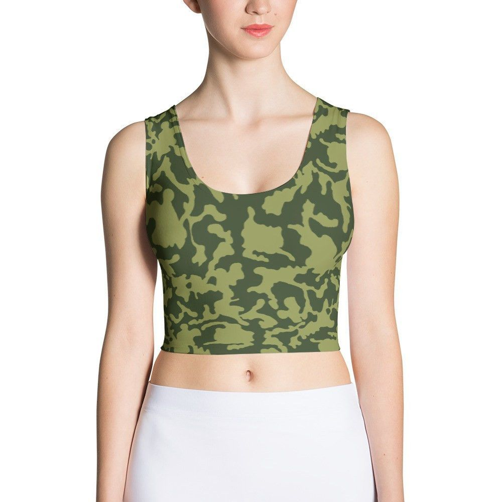 Russian Woodland BiColor CAMO Sublimation Cut & Sew Crop Top