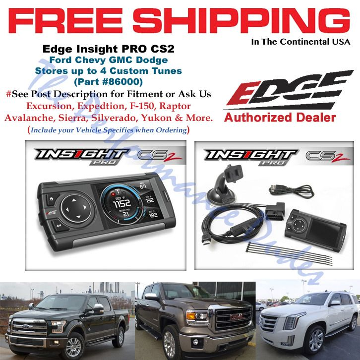 OBD2 Vehicles FREE SHIPPING!! Edge Insight CS2 Monitor Gauge Display 84030 1996