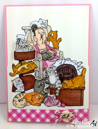 Cat Woman 4 pc set Cost 22.99. Paw prints sold separately. Made by Art Impressions Rubber Stamps. You can purchase these from my ebay store Pat's Rubber Stamps & Scrapbooks, Click on the picture here to see the listing , or call me 423-357-4334 with order, . We take PayPal. You get free shipping with the phone orders of $30.00 or more. Use my search engine to find all items you are interested in.