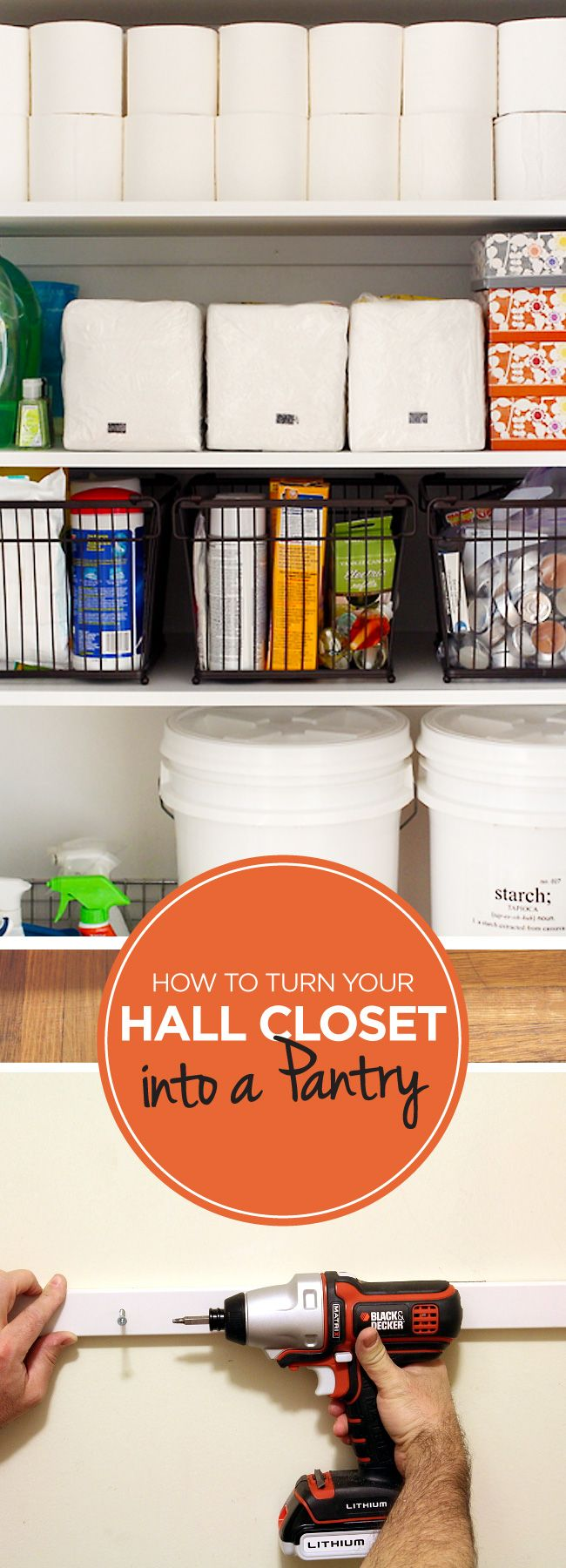 How To Turn A Plain Cabinet Into A Hyper-Organized Pantry | Pantry ...
