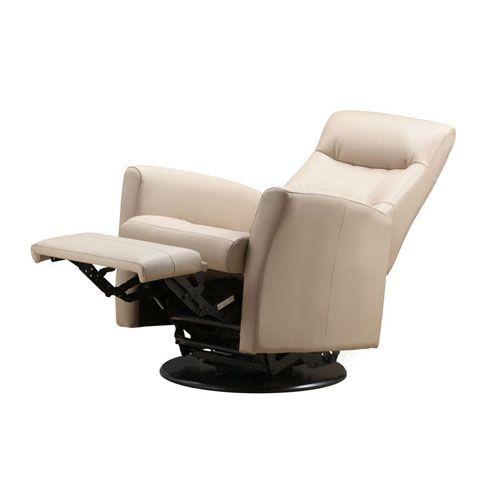 Rupert Khaki Leather Swivel Reclining Chair Emerald Home Furnishings Recliners  Chairs U0026 Re