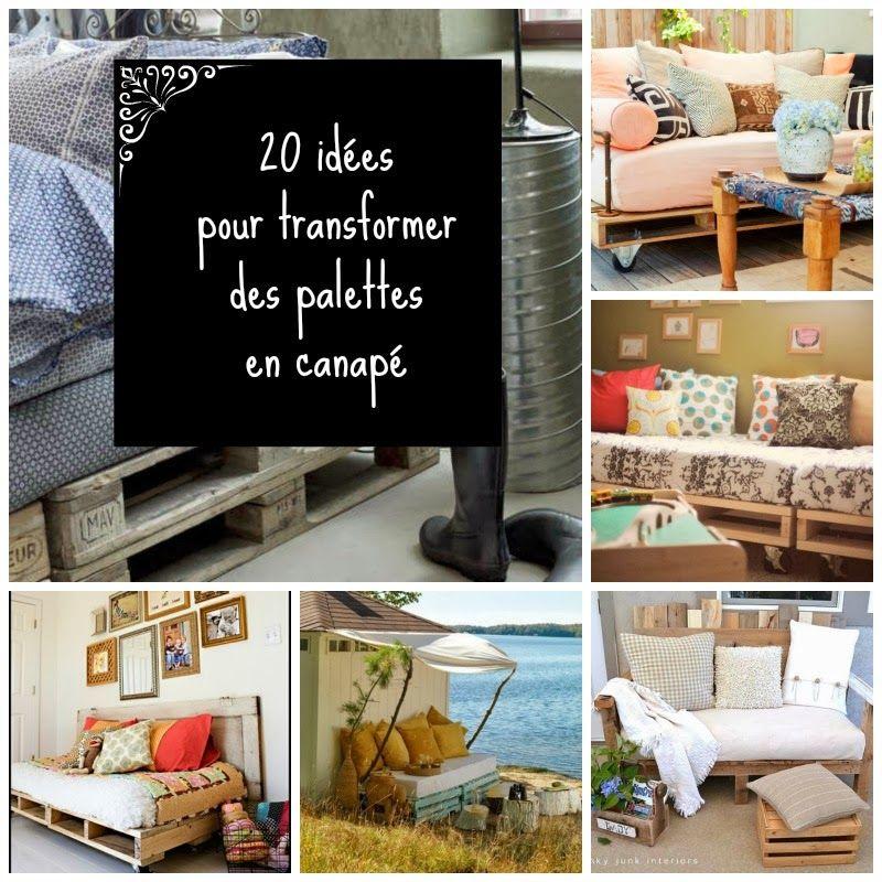 20 Idées Pour Aménager Un Petit Balcon: 20 Idées Pour Transformer Des Palettes En Canapé