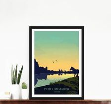 Art Print/Poster of Port Meadow in Oxford Oxfordshire United   Etsy