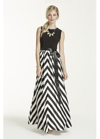 Sleeveless Long Dress with Printed Skirt A14978 | Upgrading My ...
