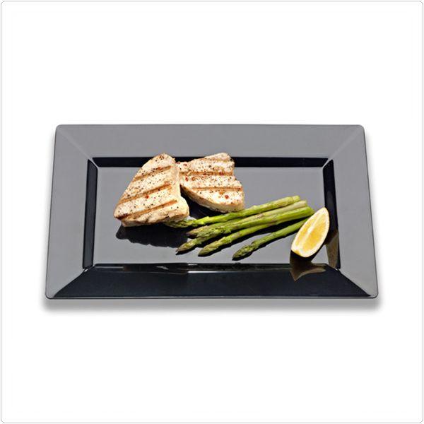 Black 9 Inch Plastic Rectangular Plates/Set of 120 Tags Dinner Plates; Rectangles & Black 9 Inch Plastic Rectangular Plates/Set of 120 Tags: Dinner ...