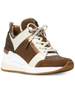 25d325fc210 Michael Michael Kors Georgie Trainer Sneakers - Brown 11M