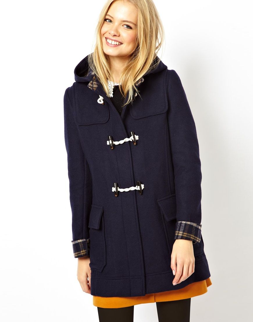 ASOS Bonded Check Duffle Coat | clothes, style, etc. | Pinterest ...