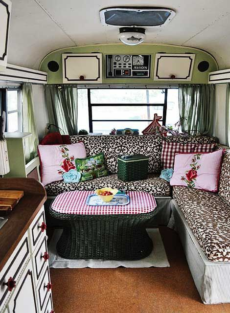 Vintage Camper Interior Cabinet Paint Cute Campers And