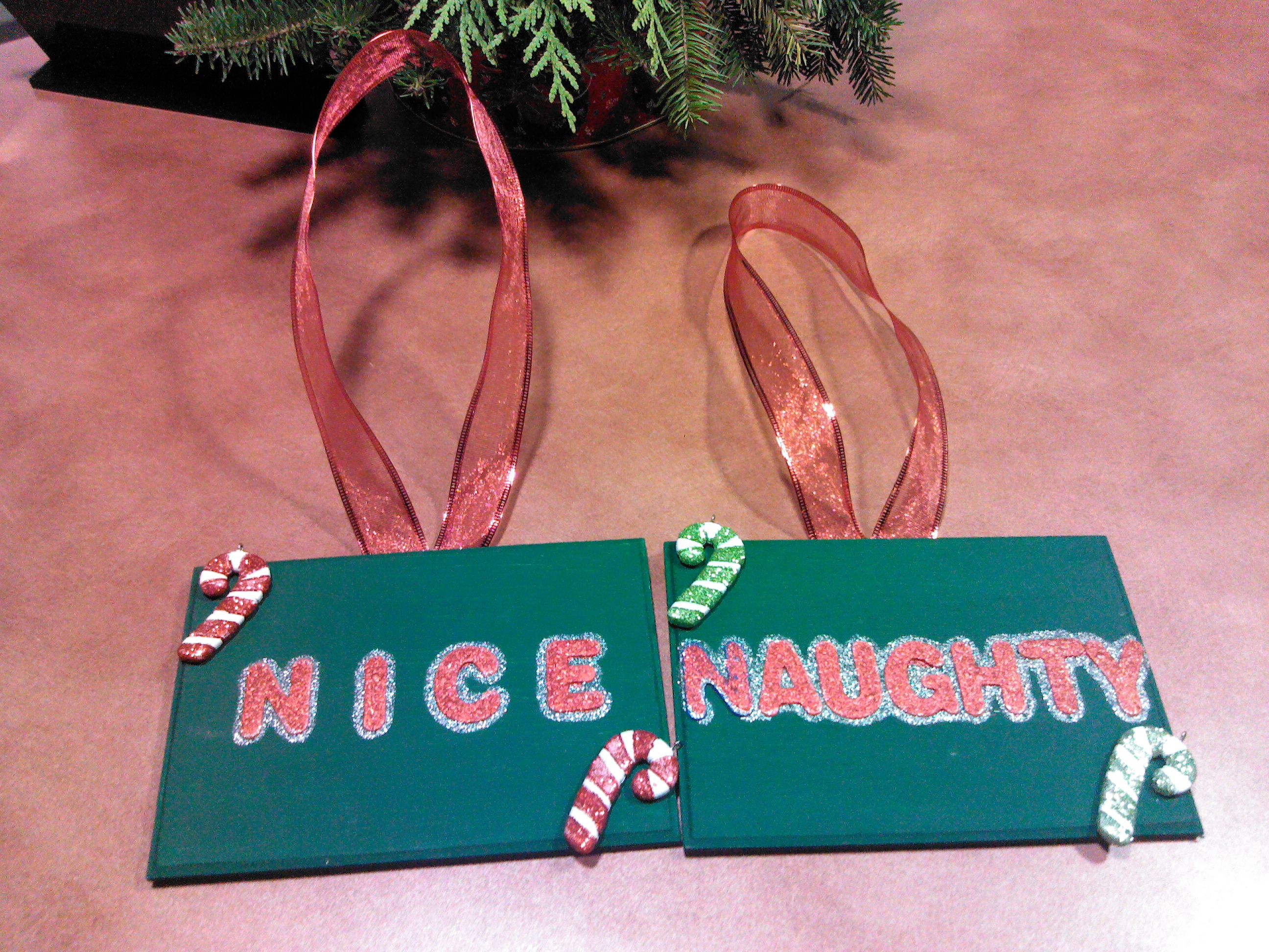 Handmade signs for the dogs to wear for our christmas cards :-)