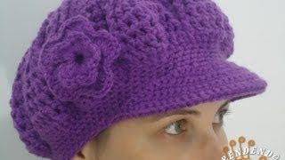 39df4e3e3b1e2 boina tejida a crochet - YouTube