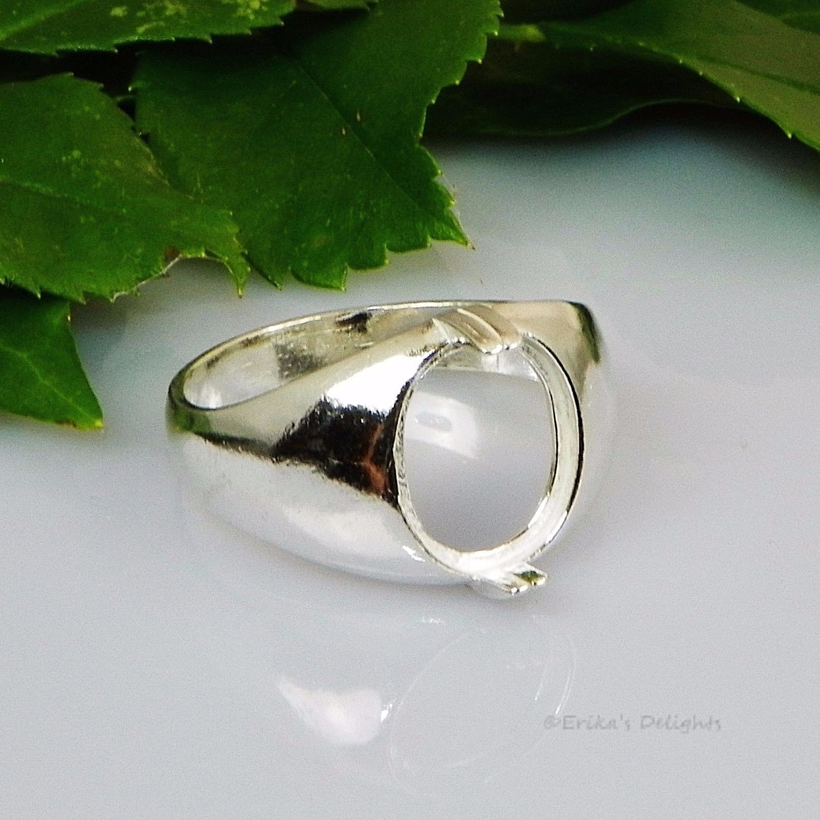 b0af70679c0f80 Ring 67710: (10X8 - 11X9) Oval Mens Cabochon (Cab) Sterling Silver Ring  Setting Id# 163-032 -> BUY IT NOW ONLY: $15.99 on #eBay #cabochon #sterling  #silver ...
