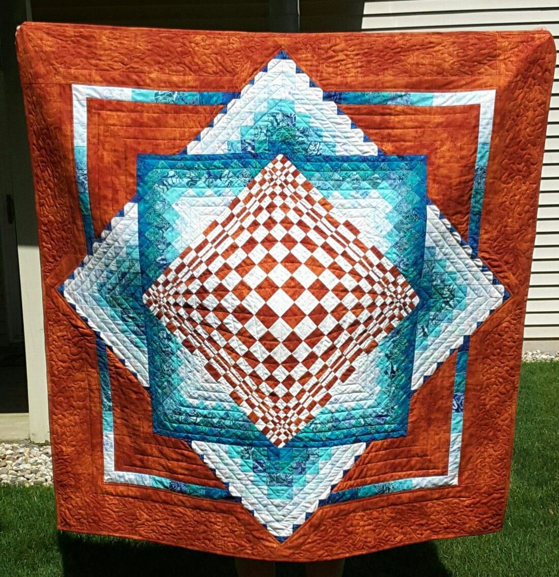Pin By Barbara Hawkins On Convex Illusions Quilted Wall