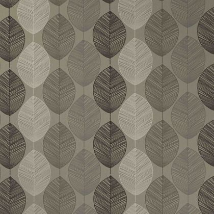 Arthouse Opera Retro Leaf Wallpaper Taupe At Homebase Be