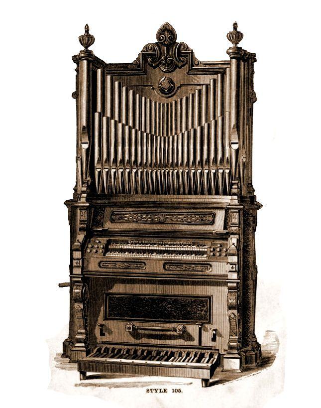 Taylor & Farley - 2MP Reed Organ Model 105