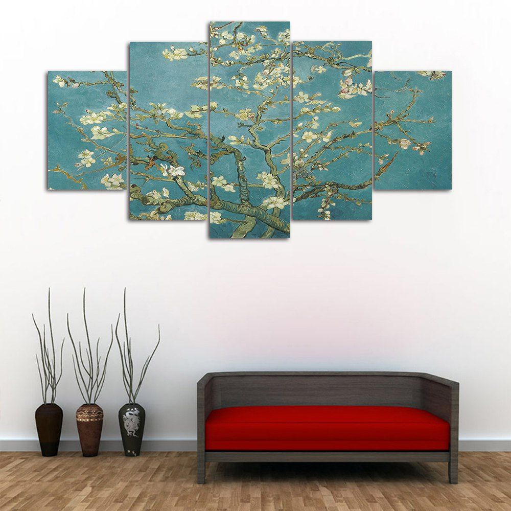 Flower tree print unframed canvas paintings flower tree tree
