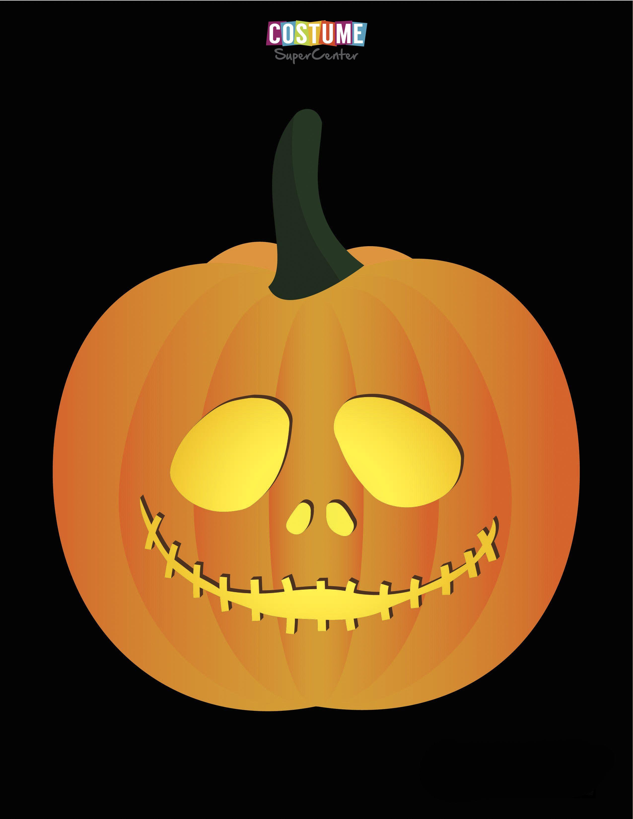 Nightmare Before Christmas Pumpkin Carving Stencils | Nightmare ...