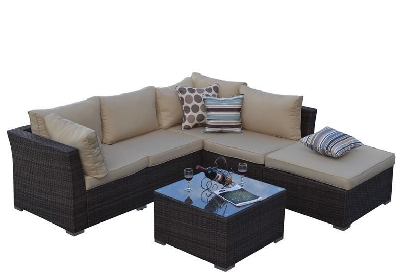 Thy Hom Jicaro 5 Piece Outdoor Furniture Set Outdoor Sofa Sets