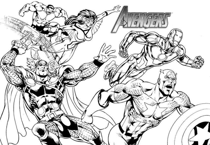 coloriage the avengers | coloring: movies/TV | Coloriage, Colorier, Dessin a colorier