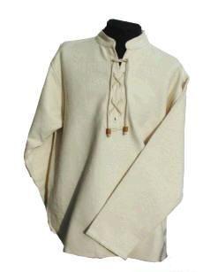 Winterhemd - Stehkragenhemd aus dickem Baumwollstoff