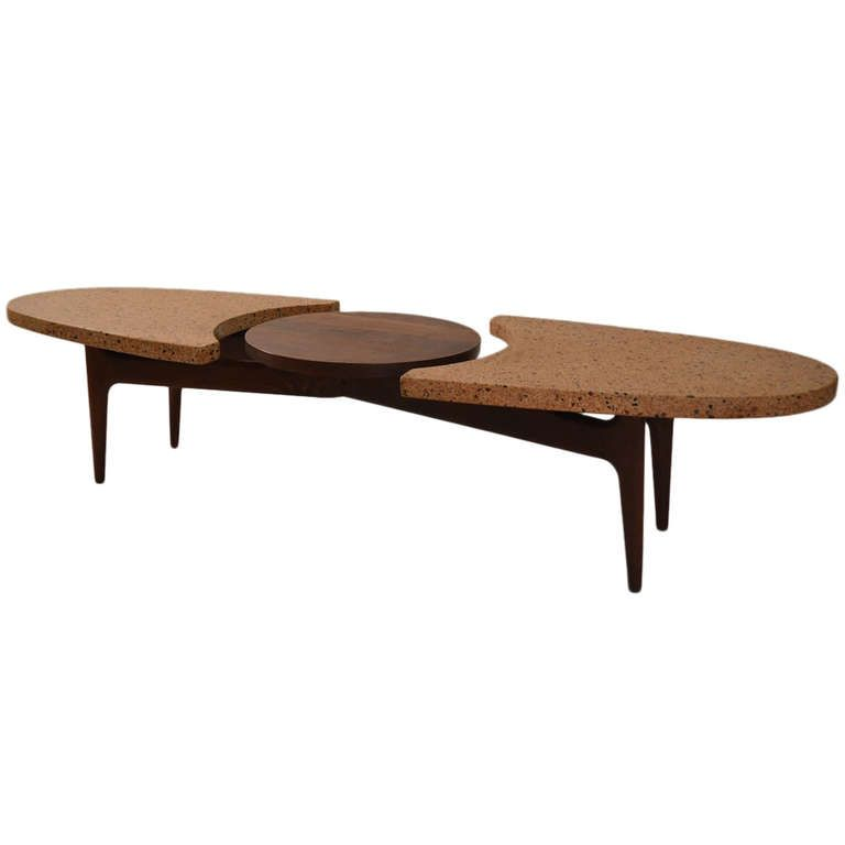 Harvey Probber Marble Top Rectangular Coffee Table W: Harvey Probber Terrazzo Top Coffee Table
