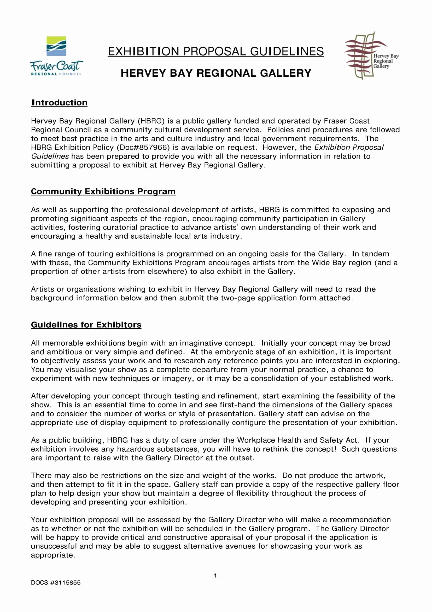 20 Art Exhibition Proposal Sample In 2020 Proposal Sample