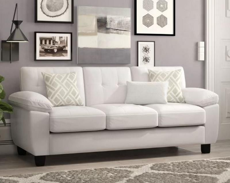 9 White Faux Leather Sofa Options That Look Stunning 2020 White Leather Sofas Faux Leather Sofa Leather Couches Living Room