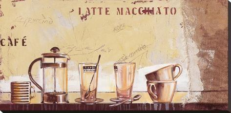 Latte Macchiato Stretched Canvas Print by Anna Flores | Art.com