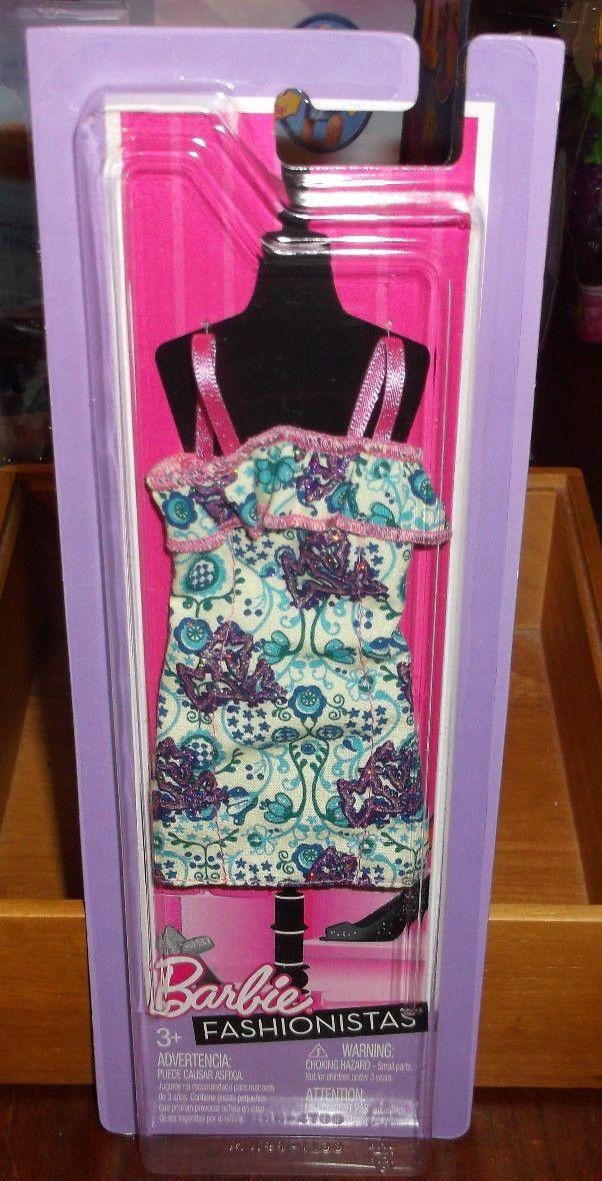 Barbie Fashionistas Yellow Purple Multi Color Dress Cute New | eBay