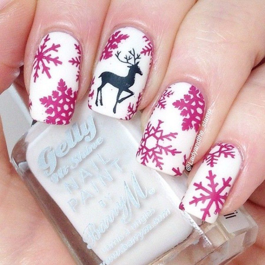 Pink Icicle Deer Nail Art | Beauty | Pinterest | Deer nails ...
