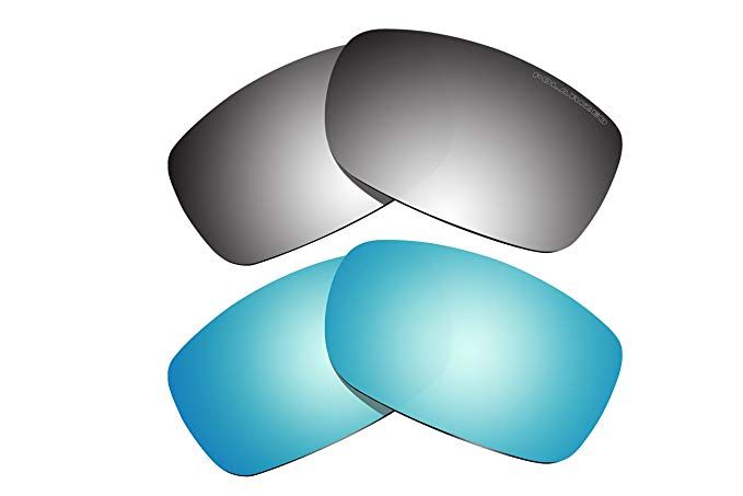 ac243b4c20 2 Pairs Polarized Lenses Replacement Blue   Black Mirror for Oakley Fives  Squared (2008) Sunglasses Review