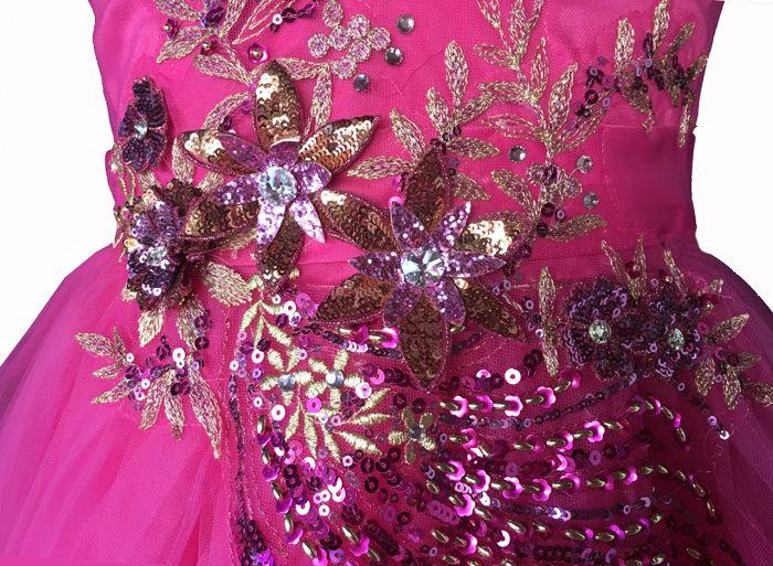 1e770877880 Πανέμορφο Παιδικό Φόρεμα για Παρανυφάκι, Πάρτι σε Φούξια