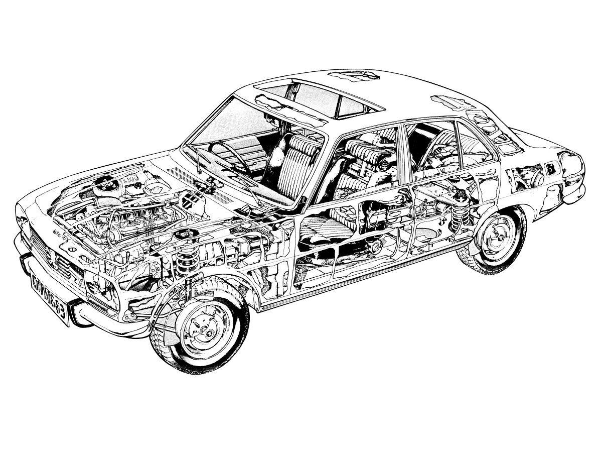 Peugeot, Classic cars, Technical illustration