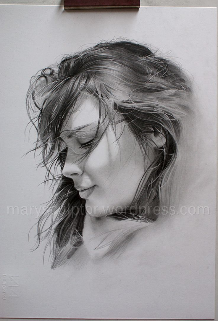 Finally A New Portrait Drawing Portrait Drawing Realistic Drawings