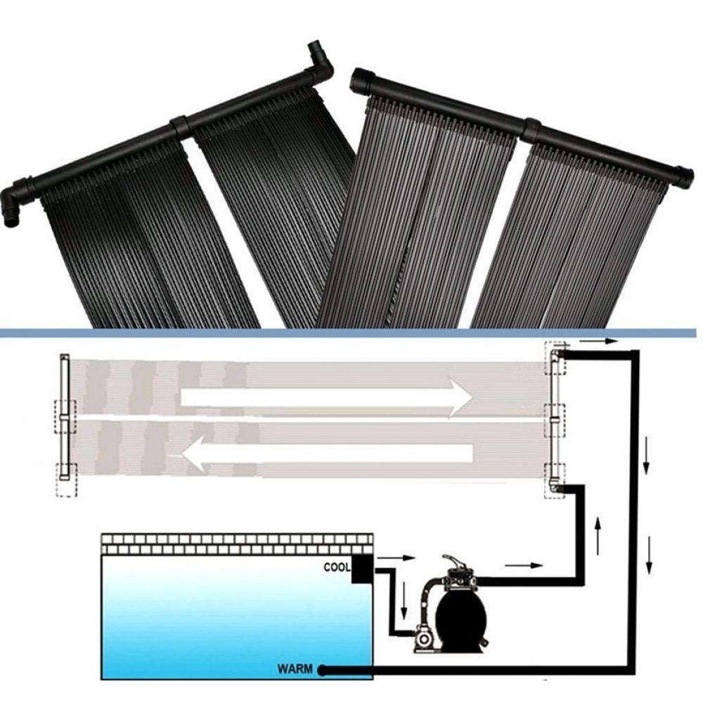 Swimming Pool Heater Solar Panel Kit Garden Heat Hot