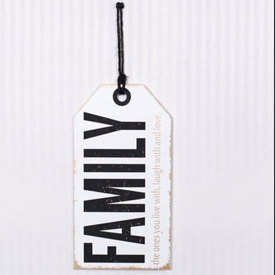 Family Love Wood Tag Sign  Letter Wall Decor Sign Letters