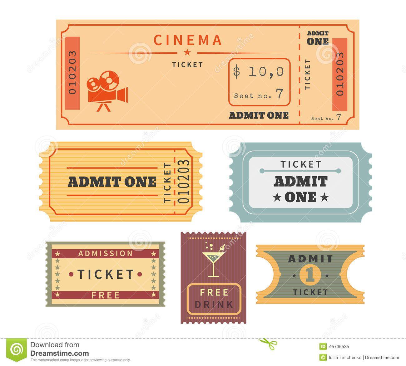 Resultado de imagen para boletos de cine para invitacion | Ticket ...