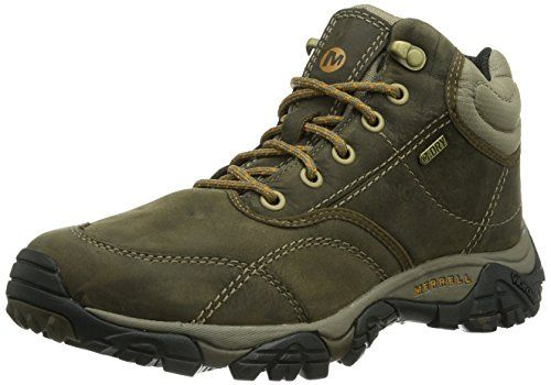 Merrell Moab's Men's High Rise Hiking Shoes made of perfect Waterproof oily  Leather! A complete package to the hiking purpose, shop now!