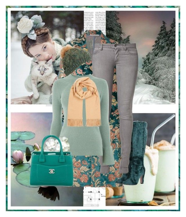 """Aqua Snow"" by seafreak83 ❤ liked on Polyvore featuring Aime, Ermanno Gallamini, Dolce&Gabbana, Cheap Monday, Warehouse, Acne Studios, Chanel, Winter, aqua and mint"